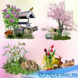 Клипарт – кластеры – Весна идёт, весне дорогу