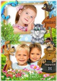 Детская рамка для фото - Любимые мультфильмы