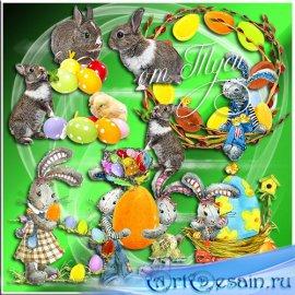 Весёлый пасхальный кролик - Клипарт к Пасхе
