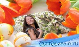 Рамка для фотошопа - Фотография среди цветов