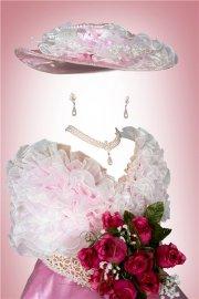 Шаблон для фотошопа девочкам - Леди с розами