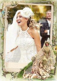 Фоторамка - Винтажная невеста