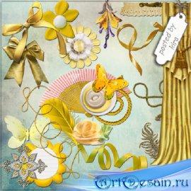 Клипарт - Желтые элементы оформления