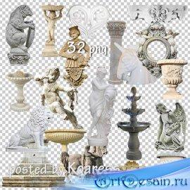 Растровый клипарт png - Статуи, барельефы, колонны, фонтаны