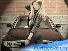 Женский фотошаблон - Любителям марки BMW
