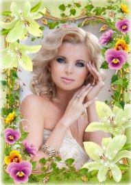Цветочная рамка для фото - Нежный аромат цветов