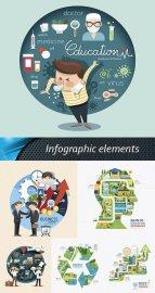 Инфографика - красочные векторные шаблоны