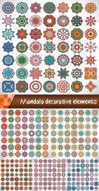 Мандала, декоративные векторные элементы