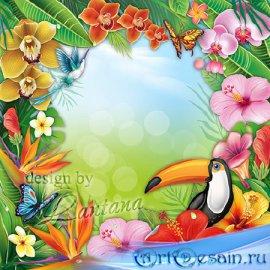 Psd исходник - Бал цветов всех оттенков и красок