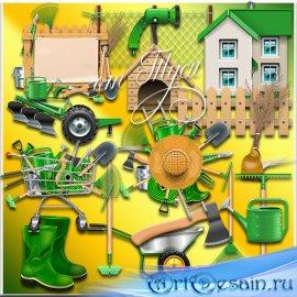 Дача, дом и огород - Клипарт