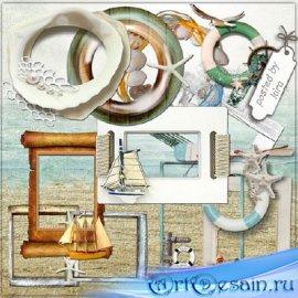 Клипарт - Морские рамки