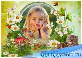 Детская рамка для фото - Краски лета
