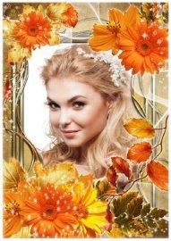 Женская рамка для фото - Золотая осень