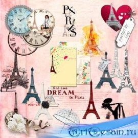 Клипарт туристический -  Париж, Эйфелева башня