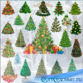 Клипарт Новогодние елки