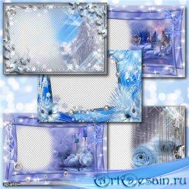Рамки для фотошопа – Зимняя нежность