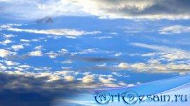 Футаж - Движение облаков по синему небу