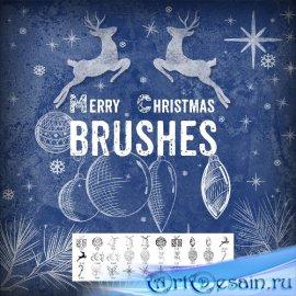 Кисти для Фотошоп - Рождественские