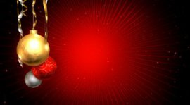 Новогодний видео футаж с елочными шарами