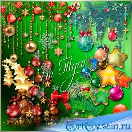 Талисманы новогоднего счастья - Клипарт