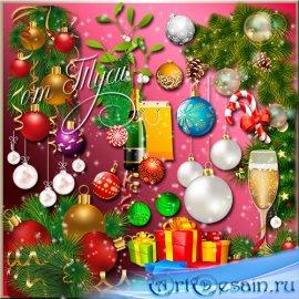 Переливы новогодней мишуры - Клипарт