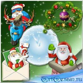 Теплых пожеланий источник – новогодний добрый сказочник - Клипарт