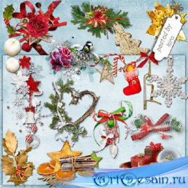 Клипарт - Новогодние и зимние кластеры