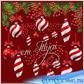 Новогодних шаров узоры  - Клипарт