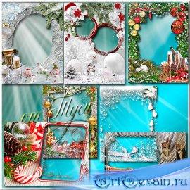 Блики в бокалах играют - Набор новогодних рамок