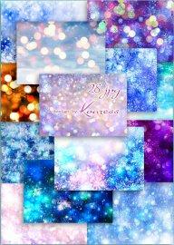Зимние, новогодние фоны в jpg для дизайна - Сверкающие праздники