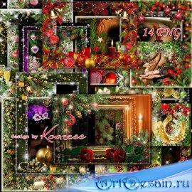 Сборник праздничных новогодних фоторамок - Пусть праздник этот будет ярким