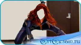 Шаблон - Боевая стойка девушки