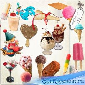 Клипарт - Мороженое в png