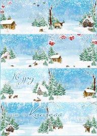 Зимние растровые фоны для коллажей - Зимние сказки