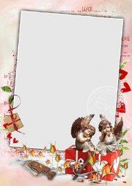Рамочка для фото - Амуры и День Святого Валентина