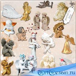 Клипарт - Статуэтки ангелов в png