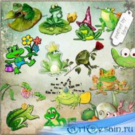 Клипарт - Милые лягушата