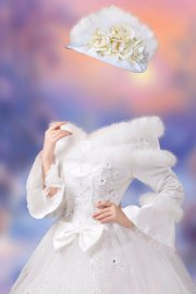 Шаблон женский для фотошопа – Зимний бал