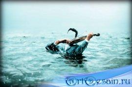 Фотошаблон для фото - Скрмпач в озере