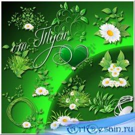 Клипарт - К нам лёгкой поступью пришла опять красавица весна