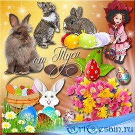 Клипарт к Пасхе - Чудесный праздник Пасха
