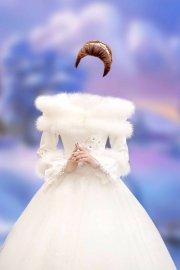 Женский шаблон для фотошопа – Принцесса в белом