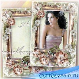 Романтическая винтажная женская рамка для фотошопа - Старинный портрет