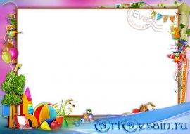 Детская рамочка для фото - На солнечной детской площадке