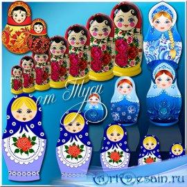 Матрёшки - русский сувенир - Клипарт