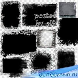 Красивые маски для Фотошопа на прозрачном фоне в PNG 2