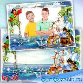 Детская рамка для фото - Сокровища морских пиратов
