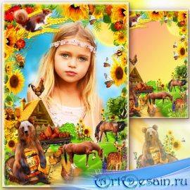 Рамка для фото - Деревенская идиллия