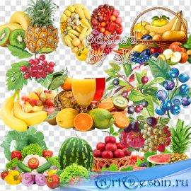Клипарт фруктово-ягодный PNG