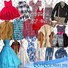 Одежда на прозрачном фоне